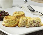 Crustless Quiche:  Hardwood Smoked  Bacon